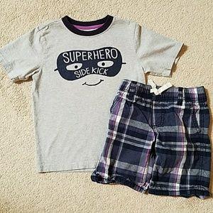 Gymboree 4t Super Hero shorts set